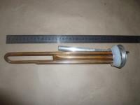 Нагрев. Элемент RF TW 1300 Вт. (медн) M4 под анод (L-250мм, 2 трубки для термостата и термозащиты) (фланец 64 мм. Универсальный ТЭН для плоского водонагревателя)