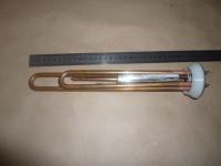 Нагрев. Элемент RF TW 2000 Вт.(700+1300) (Медн)M4 под анод (L-300мм, 2 трубки для термостата и термозащиты фланец 64 мм. Универсальный ТЭН для водонагревателя)