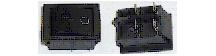 Выключатель двухклавишный 26*31мм  (16А 250В с сигнальной лампой)
